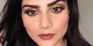 Tutorial de maquiagem com sombra amarela,maravilhosa, vale a pena conferir!!!