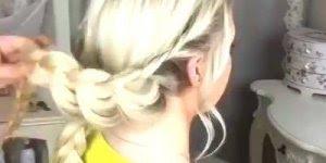 Tutorial de penteado com trança dupla, olha só que penteado lindo!!!