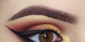Tutorial de sombras para os olhos marrom e dourada maravilhosa, confira!!!