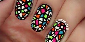 Tutorial de unhas decoradas coloridas, parecem adesivos, mas são feitas a mão!