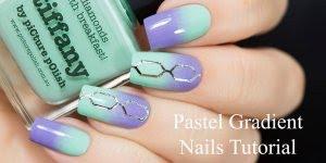 Tutorial de unhas decoradas na cor verde pastel, e desenho prata!!!