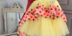 Vestido de princesa para uma princesinha, olha só que lindo!!!