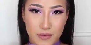 Vídeo com inspiração de maquiagem com sombra lilás linda e delicada!!!