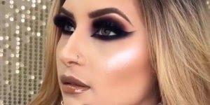 Vídeo com linda inspiração de maquiagem para os olhos para formatura!!!