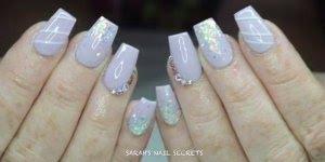 Vídeo com lindas unhas lilás, olha só que inspiração maravilhosa!!!