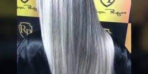 Vídeo com luzes platinadas, olha só que perfeição este cabelo!!!
