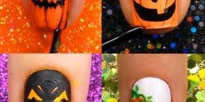 Vídeo com tutoriais de unhas para o Halloween, vale a pena conferir!!!