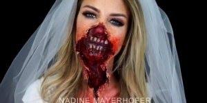 Vídeo com tutorial de de maquiagem artística de noiva cadáver!!!