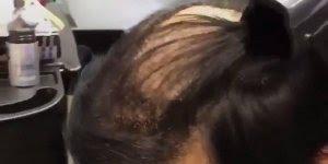 Vídeo mostrando produto para esconder calvície, olha só que legal!!!