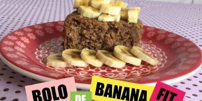 Bolo de Banana sem Lactose, uma receita Fit para você, confira!