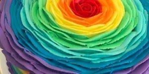 Decorações em bolos e cupcake com rosas e muitas cores, confira!