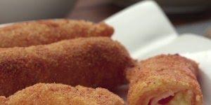 Enroladinho feito com massa de pastel, irresistível comer um só!