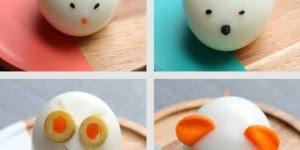 Formas divertidas de decorar ovos cozidos, as crianças vão amar!!!