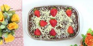 Pavê de morango com chocolate, melhor sobremesa que você respeita!