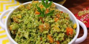 Receita de arroz de brócolis, além de ser super gostoso, é pouco calórico!!!