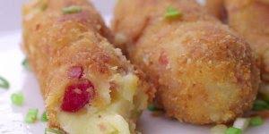 Receita de bolinho de batata recheado, simplesmente maravilhoso!!!