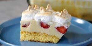 Receita de bolo de morango na travessa, olha só que delicia de sobremesa!!!