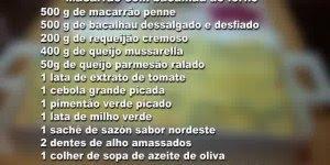 Receita de Macarrão com Bacalhau de Forno, passo a passo para não errar!