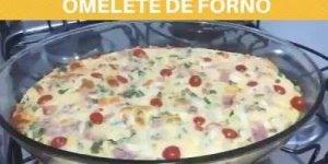 Receita de omelete de forno, olha só que delicia para fazer no fim de semana!!!
