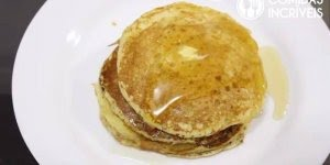 Receita de panqueca americana, olha só que délica para o café da manhã!!!