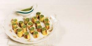 Receita de salada de pupunha grelhado com molho pesto genovês!!!