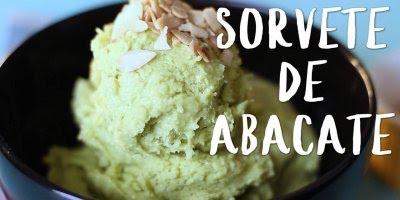 Receita de sorvete de abacate, uma delicia refrescante e super nutritiva!!!