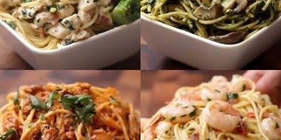 Receitas para fazer com macarrão tipo espaguete, todas fim deliciosas!