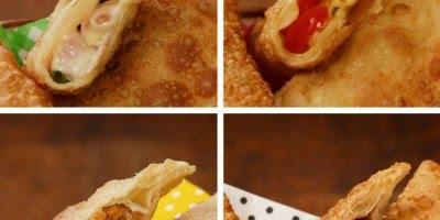 Recheios de Pasteis diferentes, escolha o que mais gostar e bom apetite!