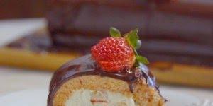 Rocambole de Morango com Chocolate, muita tentação para uma receita só!