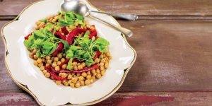 Salada de Pimentão Grelhado com Grão-de-Bico e Erva-Doce!