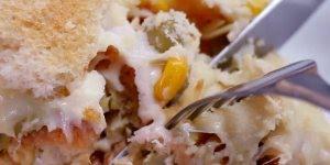Torta de Frango Rápida com Pão de Forma, uma delícia em 15 minutos!