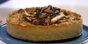 Torta Vegetariana de Cogumelos e Castanhas, uma receita incrível!